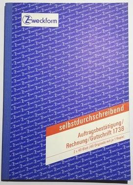 ZWECKFORM AUFTRAGSBESTÄ./RECHNUNG/GUT- SCHRIFT A5
