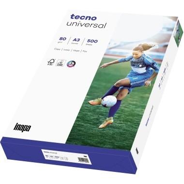 Kopierpapier A3 80gr weiss Packung 500 Blatt Inapa Tecno Universal 153er- Weisse