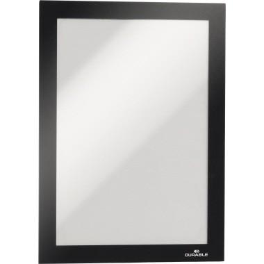 Magnetschilderrahmen A5 DURAFRAME schwarz Rückseite selbstklebend, 2 St./Pack