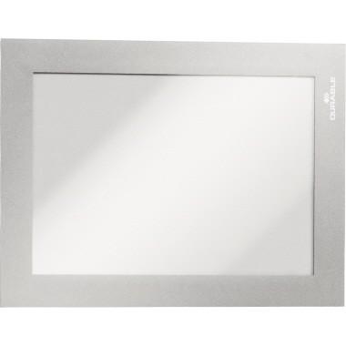 Magnetschilderrahmen A6 Duraframe silber selbstklebend, magnetische Vorderseite,2 St./Pack