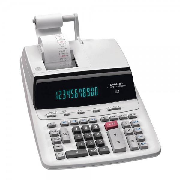 Tischrechner Sharp CS-2635RH-GYSE weiß Maße: 250 x 87 x 345 mm (B x H x T)