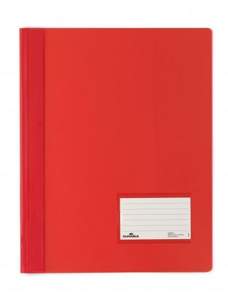 Schnellhefter A4 DURALUX rot Überbreite mit Innentasche