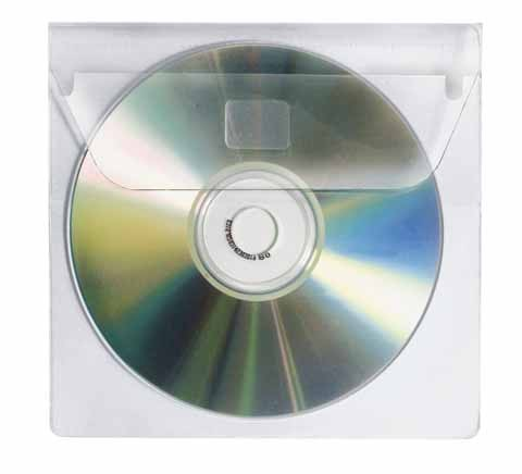 CD/DVD Hülle Veloflex 137x125mm (BxH) transparent 10 St./Pack