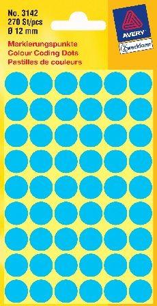 Etikett 12mm Blau 270 St./Pack Markierungspunkt