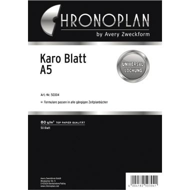 CHRONOPLAN KARO-BLATT A5