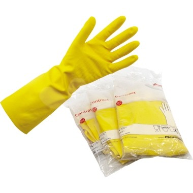 Gummihandschuh Vileda Größe M Naturlatex gelb 2 St./Pack