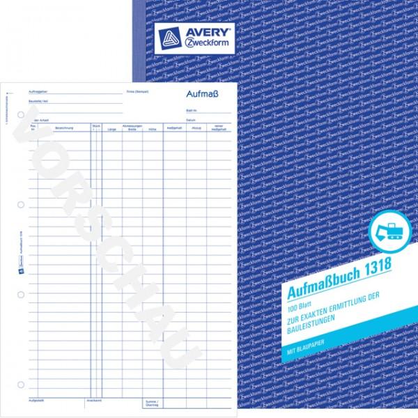 Zweckform Aufmaßbuch A4 100 Blatt