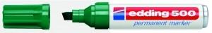 Edding 500 Permanentmarker grün Nr.04 Keilspitze Strichstärke: 2-7 mm 305030460