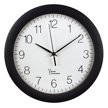 Funkwanduhr 30x5,2cm (Ø x T) Hama PG-300 schwarz