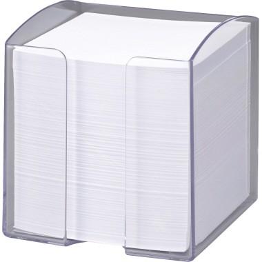 Notizzettelbox TREND 10x10,5x10cm transparent Polystyrol / gefüllt 800 Blatt