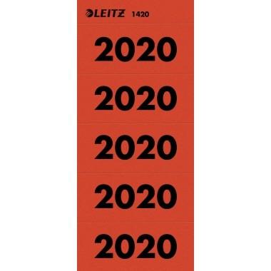 "Rüschi ""2020"" rot Leitz 100 St./Pack 60x25,5mm (BxH)"