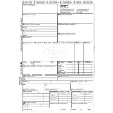 Frachtbrief CMR A4 4 Blatt selbstdurchschreibend internationaler Straßengüterverkehr
