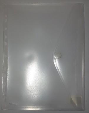 Umlaufsichthülle Nivo A4 m. Verschluß Abheftlochung transparent