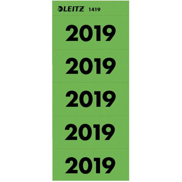 "Rüschi ""2019"" grün Leitz 100 St./Pack 60x25,5mm (BxH)"