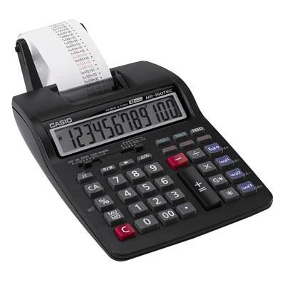 ***Tischrechner druckend Casio HR-150TEC Batterie/Netzbetrieb Euro Ausverkauft