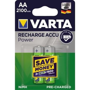 Batterie Akku Mignon AA Ready2Use 2 St./Pack Nickel-Metallhydrid,2100 mAh ,HR6,1,2 V Varta