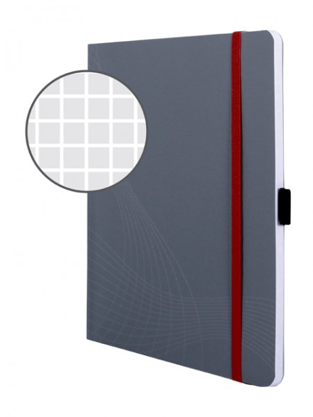 Notizbuch A5 Notizio kariert 90 g/m² 80 Bl. Softcover