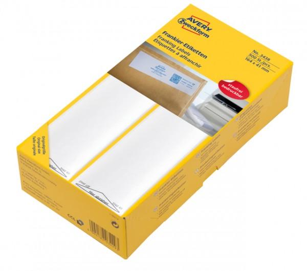 Frankier-Etiketten 168x44mm einzeln weiß 500 St./Pack **Restposten, begrenzte Menge**