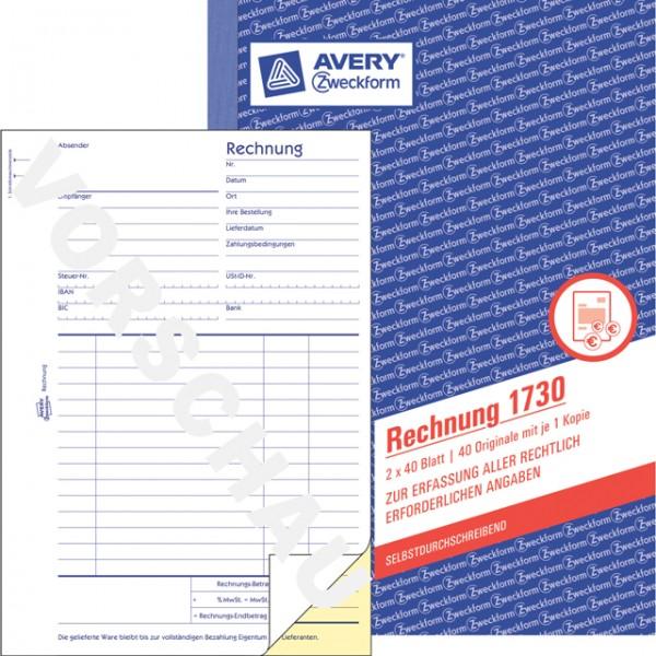 Zweckform Rechnung A5 2x 40 Blatt SD