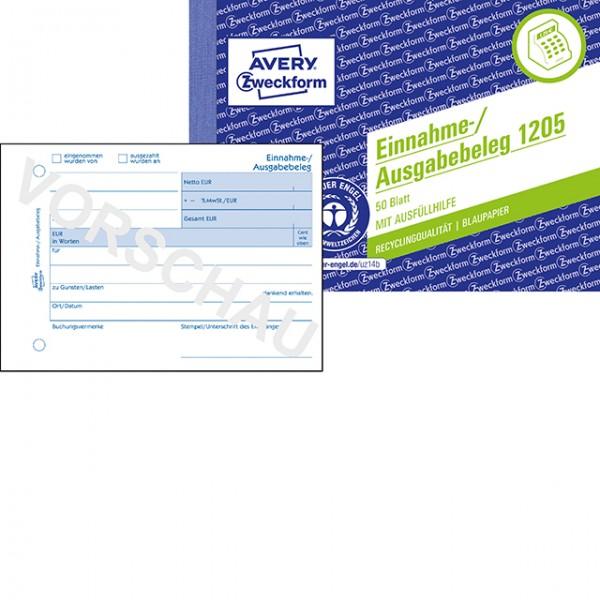 Zweckform Einnahme/Ausgabebeleg A6 Recycling 50 Blatt