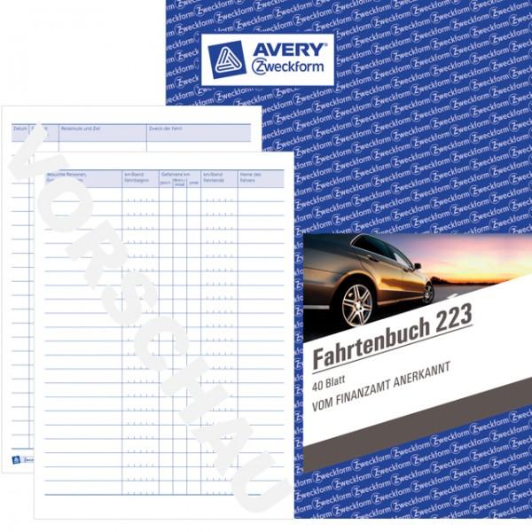 Zweckform Fahrtenbuch A5 40 Blatt