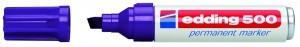 Edding 500 Permanentmarker violett Nr.08 Keilspitze Strichstärke: 2-7 mm Inhalt 10 Stück