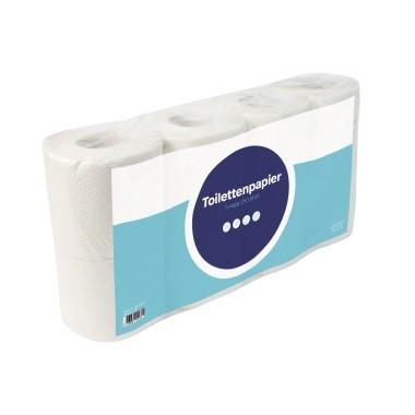 Toilettenpapier 3-lagig sonador hochweiß Deinktes Papier, 250 Bl./Rl., 8 Rl./Pack