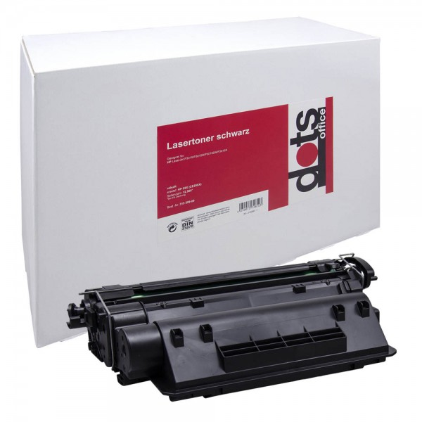 Lasertoner GR.1222HC wie HP CE255X schwarz Druckseiten ca.12500 Seiten, dots rebuilt