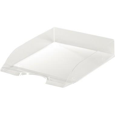 Briefablage BASIC A4 transparent mit Greifausschnitt , stapelbar