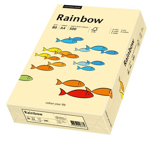 Kopierpap. A4 80g/m² chamois (06) 500 Bl./Pack Rainbow Coloured