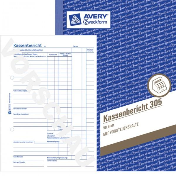 Zweckform Kassenbericht A5 50 Blatt