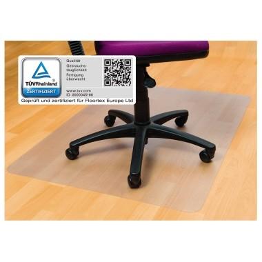 Bodenschutzmatte 120x90cm Form O transparent matt Cleartex, Vinyl, für harte Böden