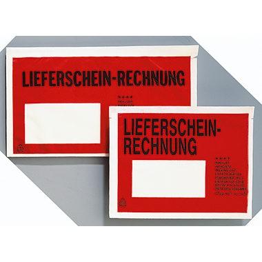 Dokumententasche DL LFS/RE 250 St./Pack Selbstklebend , 110x240mm