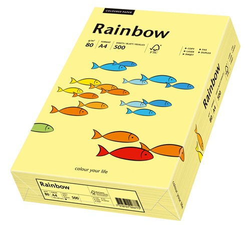 Kopierpap. A4 80g/m² hellgelb (12) 500 Bl./Pack Rainbow Coloured 88042297