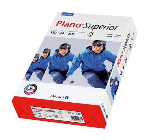 Kopierpap. A4 120g/m² Plano Superior weiß Weißgrad (CIE): 168, 250 Bl./Pack