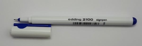 EDDING 2100 SIGNPEN 0.3 MM BLAU