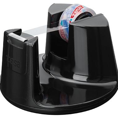 Tischabroller Tesa f. 33mx19mm Easy Cut Compact inkl.1 Rolle 10mx15mm Kristallklar / schwarz