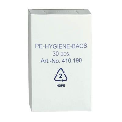 Hygienebeutel PE 8,0x25,0 cm (B x H) weiss 30 St./Pack