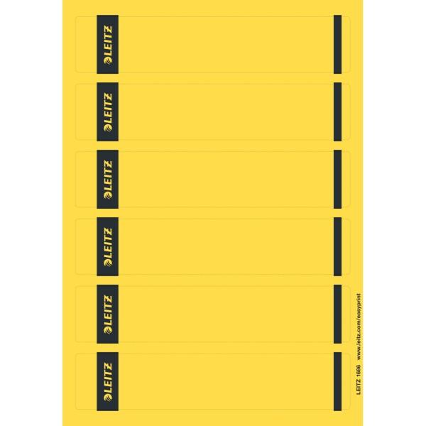 Rüschi f. 1050 kurz/schmal gelb 150 St./Pack Maße: 39 x 192 mm (B x H),selbstklebend