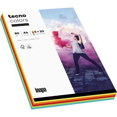 Kopierpap. A4 80g/m² Intensivmix 100 Bl./Pack Tecno Colors 2100011413