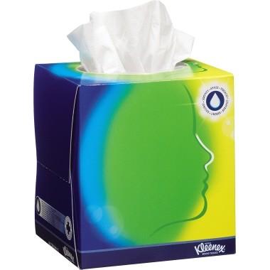 Kosmetiktücher Kleenex Balsam 20x20cm weiß 3-lagig , Zellstoff , 56 St./Pack