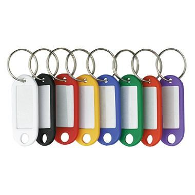 Schlüsselanhänger schwarz mit Beschriftungsschild 10 St./Pack