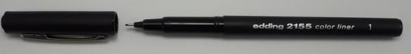 Edding 2155 Color Liner 0.3 mm schwarz **Restposten,begrenzte Menge**