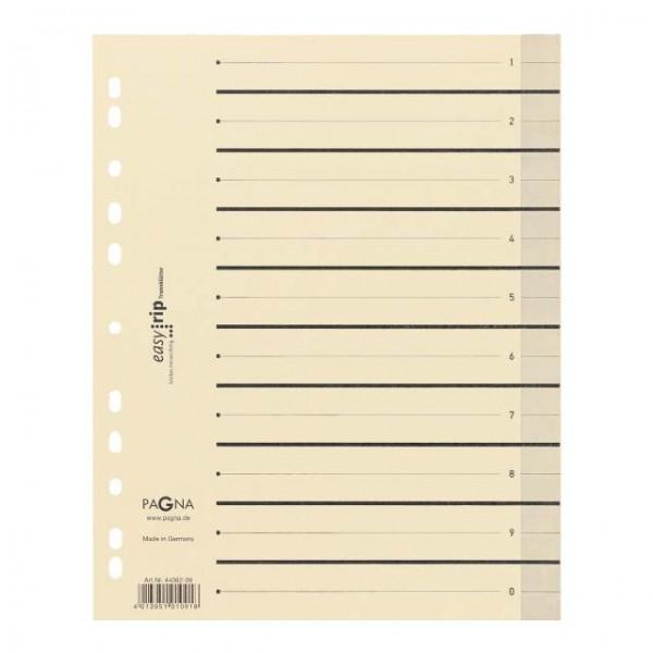 Trennblätter A4 Easy Rip chamois/sw 100 St./Pack mit Linienaufdruck