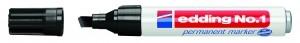 Edding 1 Permanentmarker schwarz Keilspitze 1-5mm