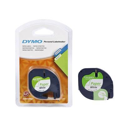 Bänder Dymo Letratag 91220 Papier weiss 12mmx4m / S0721520