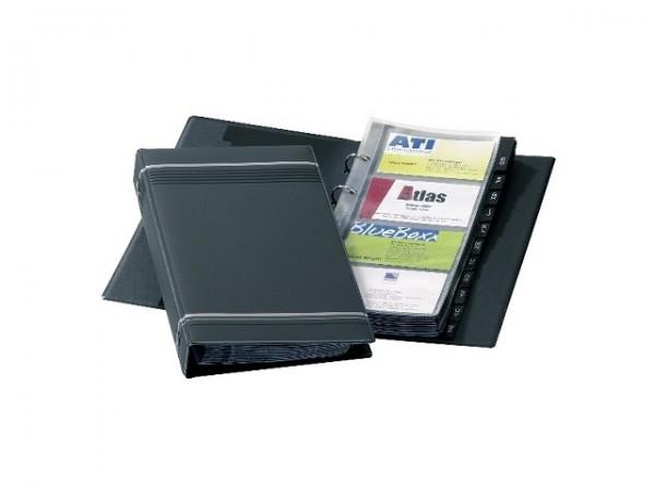 Visitenkartenringbuch Visifix Durable anthrazit Maße: 14,5 x 25,5 x 3 cm (B x H x T)