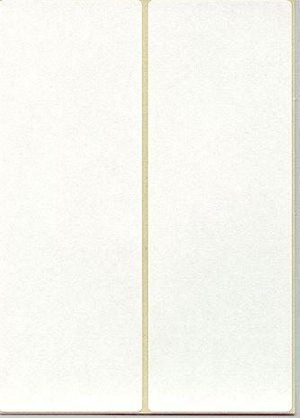 Frankieretikett 138x48mm doppelt weiß 500 St./Pack