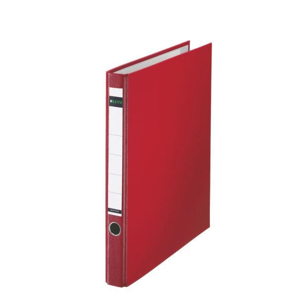 Ordner A4 Plastik Color 35 mm rot mit Reißmechanik/Leitz