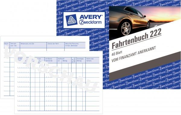 Zweckform Fahrtenbuch A6 quer 40 Blatt